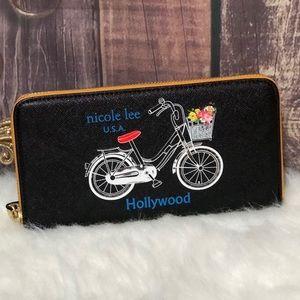 ●Nicole Lee Andie Bicycle Print Wallet ●